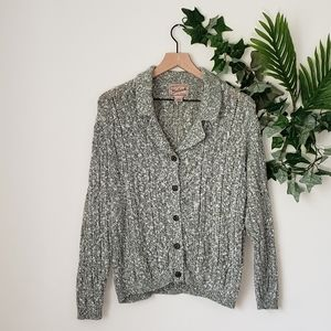 Woolrich Green And White Button Up Sweater